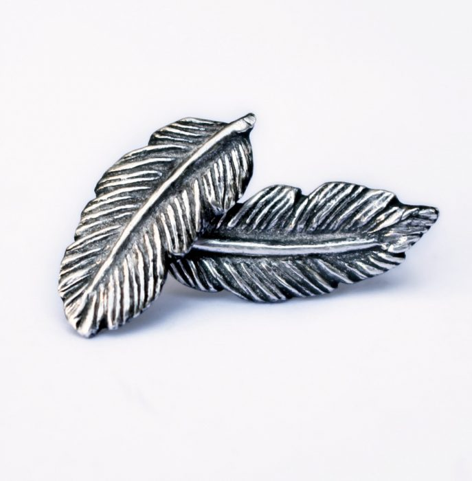 Just listed the silver and niobiumtitanium feather earrings in myhellip