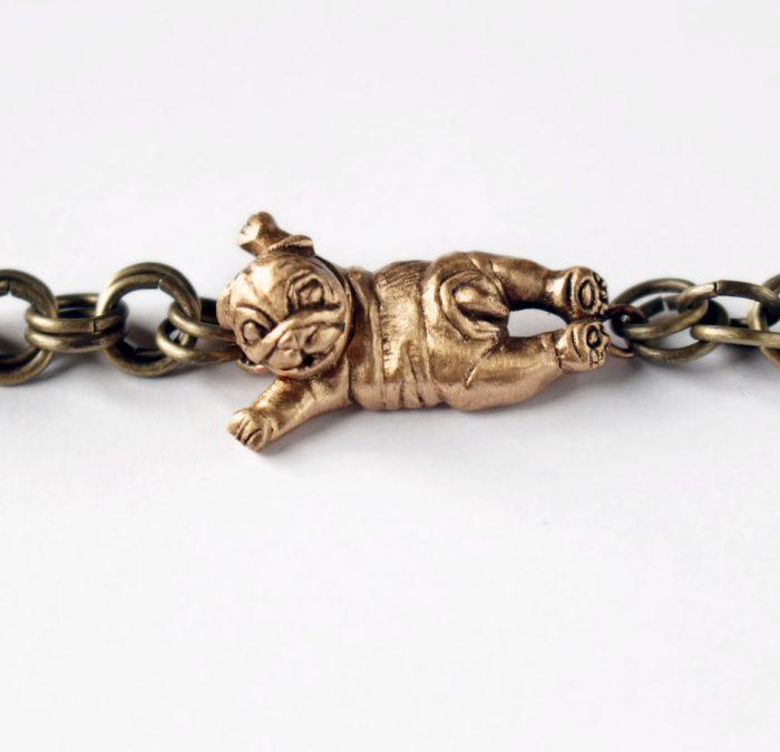 Made an english bulldog puppy bracelet you find it inhellip