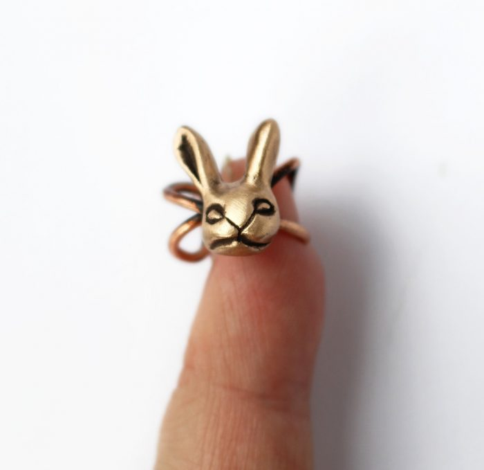 New design requested by a costumer a bunny earcuff Imhellip