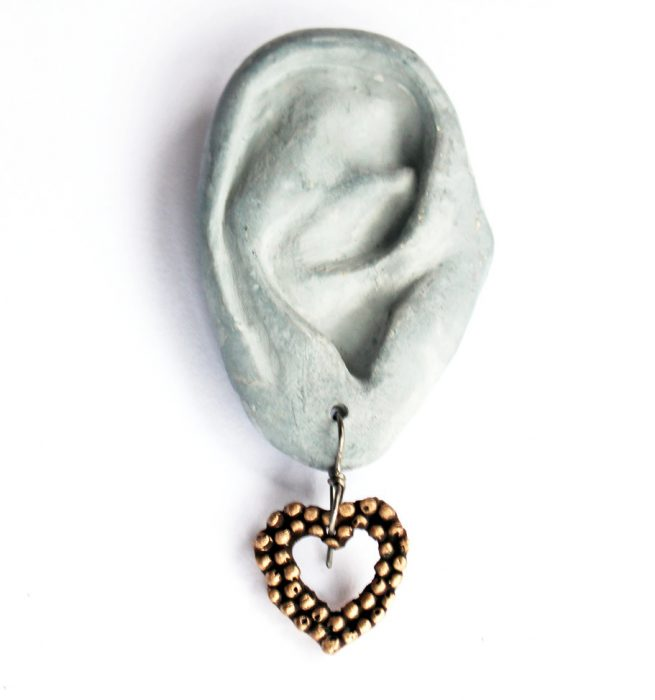 Just listed the heart earrings my 8 year old daughterhellip